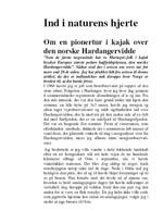 Hardangervidde, Norge 1984